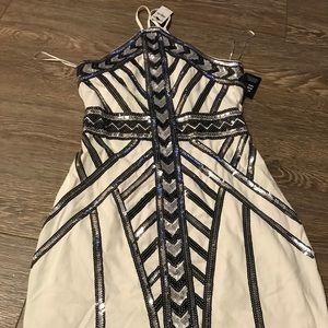Express sequin sleeveless dress